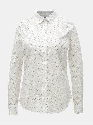 Biela dámska bodkovaná košeľa GANT