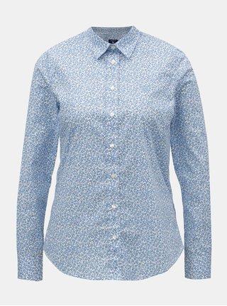 Svetlomodrá dámska kvetovaná košeľa GANT