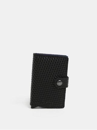 Černá kožená peněženka s hliníkovým pouzdrem s RFID Secrid Miniwallet Cubic