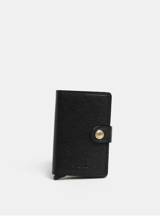 Černá kožená peněženka s hliníkovým pouzdrem s RFID Secrid Miniwallet Crisple