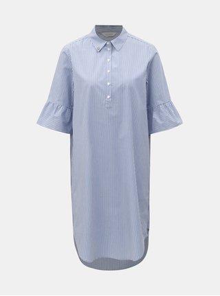 Bílo-modré pruhované košilové šaty Scotch & Soda