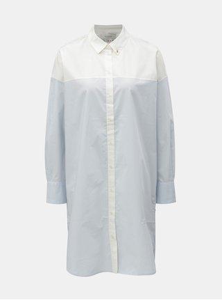 Bílo-modré košilové šaty s dlouhým rukávem Scotch & Soda