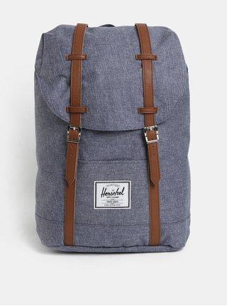 Modrý žíhaný batoh Herschel Retreat 19,5 l