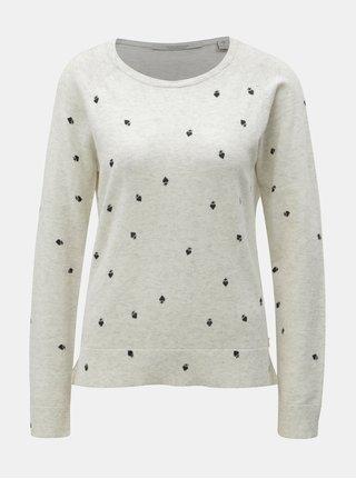 Krémový melírovaný sveter s prímesou vlny Scotch & Soda
