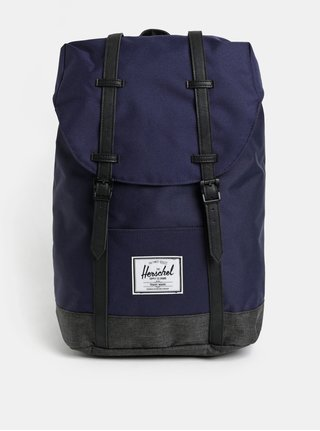 Čierno-modrý batoh Herschel Retreat 19,5 l
