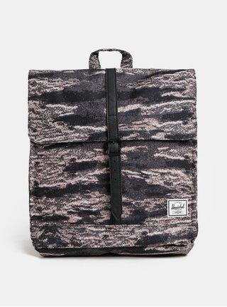 Růžovo-černý žíhaný batoh Herschel City Mid 14 l