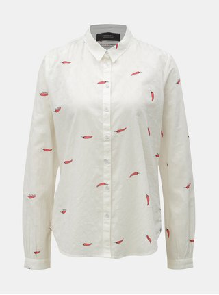 Camasa alba cu print Scotch & Soda
