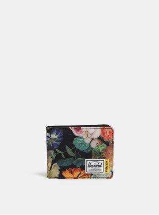 Čierna kvetovaná peňaženka Herschel Roy RFID