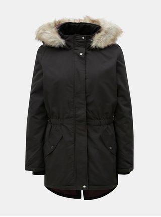 Čierna dlhá zimná bunda Jacqueline de Yong Star