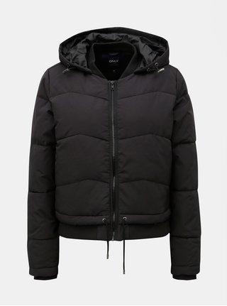 Černá prošívaná krátká zimní bunda ONLY Aida