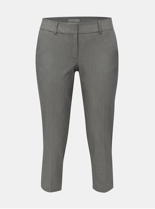 Šedé žíhané kalhoty s puky Dorothy Perkins Petite