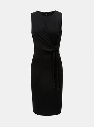 Čierne šaty s uzlom VERO MODA Louisa