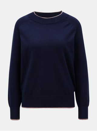 Tmavě modrý svetr se stojáčkem Jacqueline de Yong Day