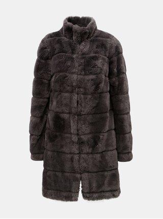 Šedý kabát z umělé kožešiny Dorothy Perkins