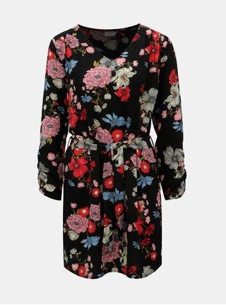 Růžovo-černé květované šaty Jacqueline de Yong New