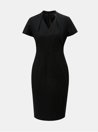 Čierne puzdrové šaty s krátkym rukávom Dorothy Perkins