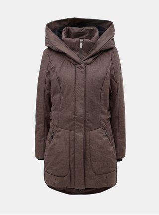 Hnedá dámska melírovaná dlhá nepremokavá bunda killtec