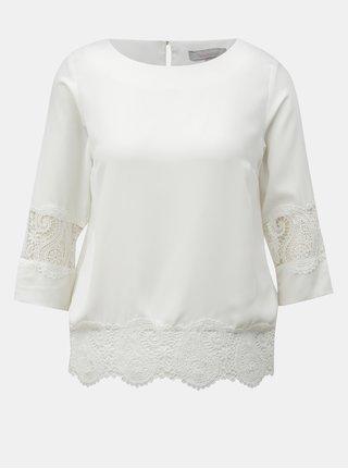 Bílá halenka s krajkovými detaily Dorothy Perkins Petite