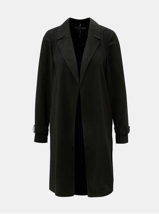 Čierny tenký kabát bez zapínania Dorothy Pekrins