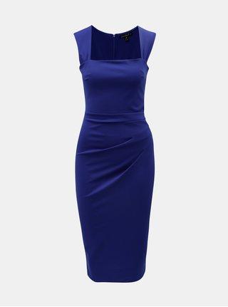 Rochie mulat albastru cu pliuri laterale Scarlett B