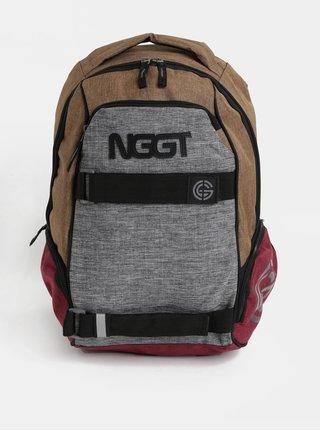 Hnedo-sivý melírovaný batoh NUGGET 24 l