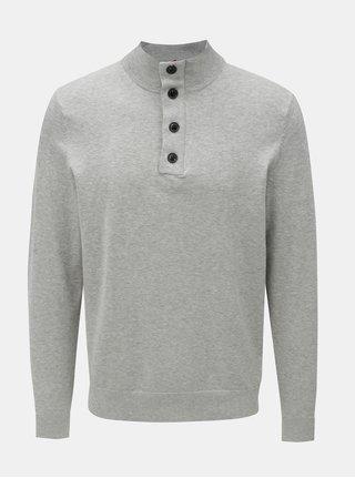 Šedý pánský svetr s příměsí hedvábí Tommy Hilfiger Stripe