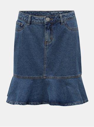 Modrá rifľová sukňa s volánom Noisy May Sejla