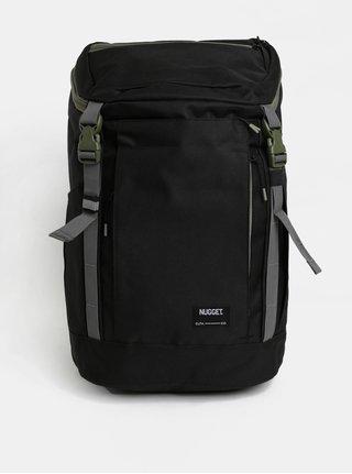 Černý batoh se zelenými detaily Nugget 35 l