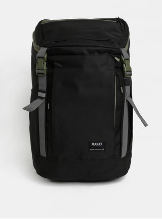 Čierny batoh so zelenými detailmi Nugget 35 l