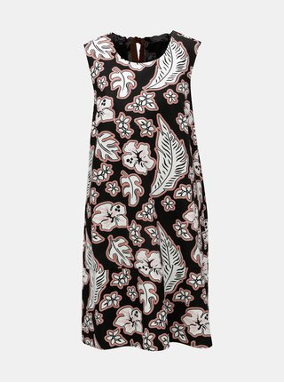 Bílo-černé květované šaty Tommy Hilfiger
