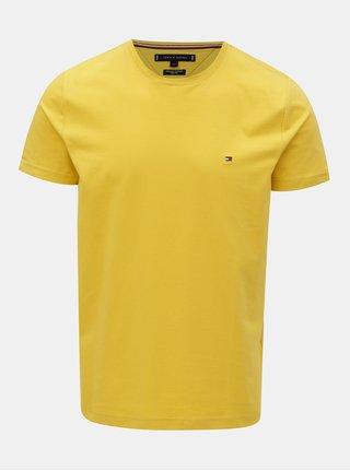 Žlté pánske slim fit tričko Tommy Hilfiger Tee
