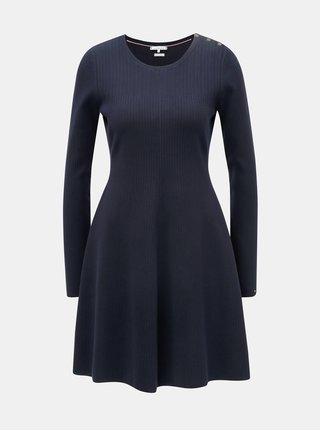 Tmavě modré svetrové šaty Tommy Hilfiger Varinka