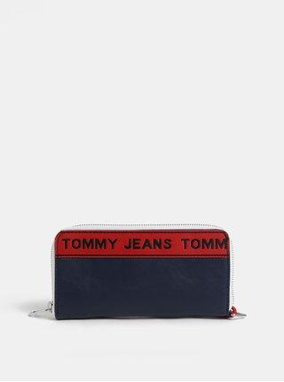 Tmavomodrá dámska peňaženka s logom Tommy Hilfiger Tape