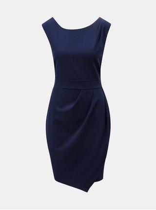 Tmavě modré pouzdrové šaty se zavazováním Apricot