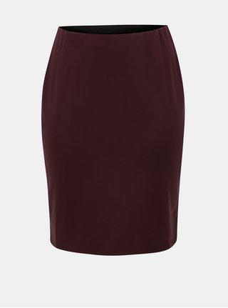 Vínová pouzdrová sukně Zizzi Maddison