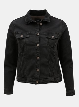 Čierna krátka rifľová bunda Zizzi Manais