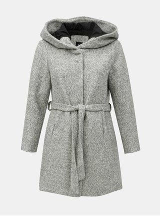 Svetlosivý melírovaný kabát s prímesou vlny Zizzi Mditte