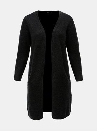 Cardigan negru cu amestec de lana Zizzi Camilla