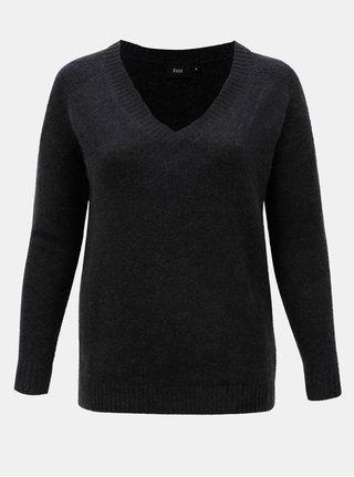 Tmavosivý sveter s prímesou vlny Zizzi Camilla