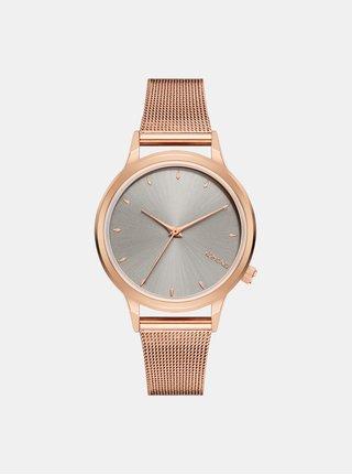 Dámske hodinky v ružovozlatej farbe s ciferníkom v striebornej farbe Komono Lexi Royale