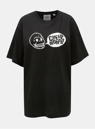 Čierne dámske oversize tričko s potlačou Cheap Monday