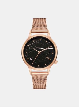 Dámské hodinky s páskem v růžovozlaté barvě a mramorovaným ciferníkem Komono Lexi Royale Marble