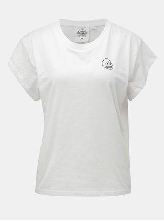 Tricou de dama alb cu print Cheap Monday