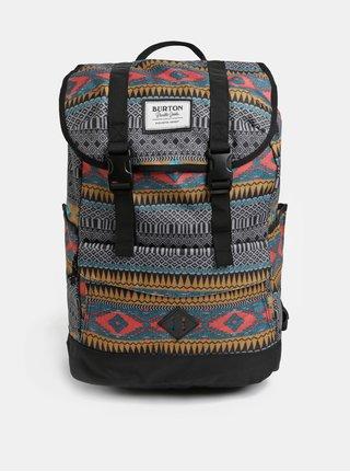 Čierno–sivý vzorovaný batoh Burton 23 l