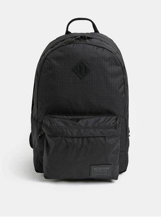 Černý batoh s koženkovou nášivkou Burton 20 l