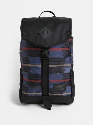 Černo-modrý vzorovaný batoh Burton 23 l