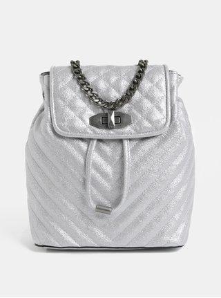 Malý dámský elegantní batoh ve stříbrné barvě ALDO