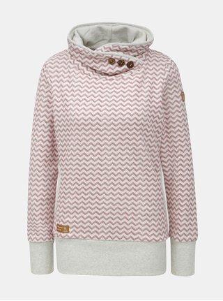 Bluza de dama sport rosu-gri cu model si guler inalt Ragwear