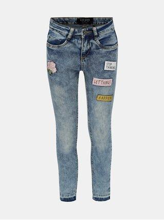 Modré holčičí džíny s výšivkami Blue Seven