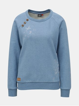 Bluza de dama sport albastra cu print Ragwear